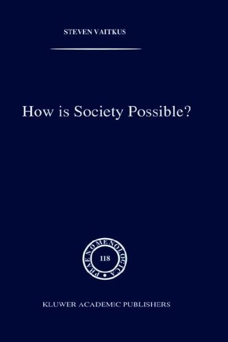 Download How is Society Possible?: Intersubjectivity and the Fiduciary Attitude as Problems of the Social Group in Mead, Gurwitsch, and Schutz (Phaenomenologica) Pdf
