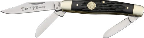 Boker 110728 Ts Medium Stockman Pocket Knife, Black Boker Pocket
