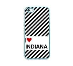 Love Heart Indiana Aqua Silicon Bumper iPhone 5 & 5S Case - Fits iPhone 5 & 5S