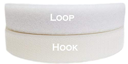 (Soft Touch Nylon Sew on Hook and Loop, 10 yds Length x 1-1/2