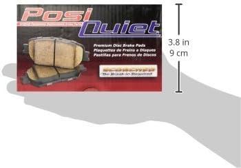Centric 105.0466 Posi-Quiet Ceramic Brake Pad with Shims