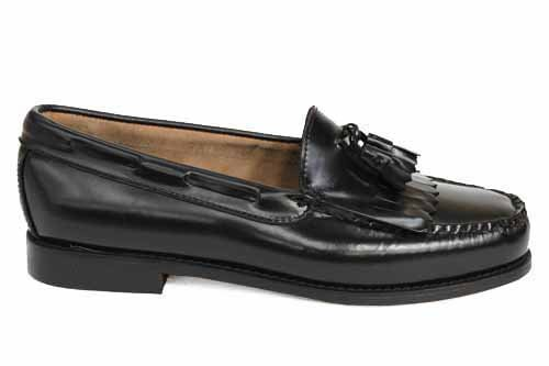 GH Bass Layton Fringe Black Classic Shoes Loafers 8