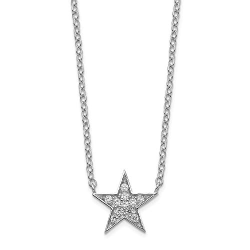 925 Sterling Silver Cubic Zirconia Cz Star Chain Necklace Pendant Charm Sun Moon Fine Jewelry Gifts For Women For Her
