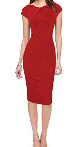 Coolred-femmes Manches Courtes Sexy Froncé Lussi Modelée Mi Pattern7 Robe