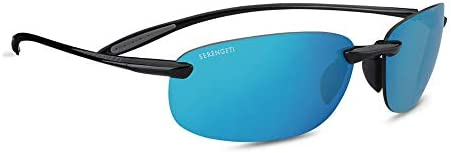Serengeti Nuvino Mirror Sunglasses, Shiny Black