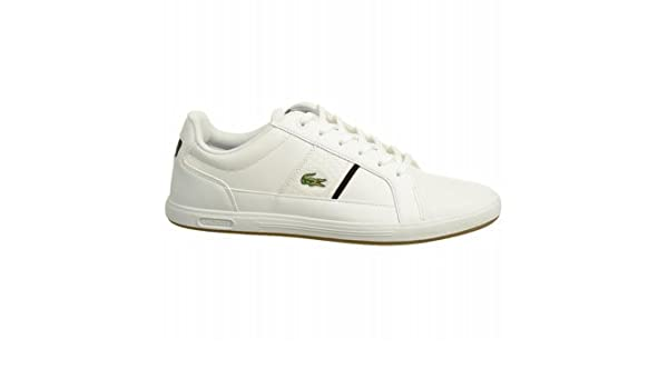 dcbe2af82b19 Amazon.com  LACOSTE Men s Europa Croc Sneaker (White Black 11.5 M)  Shoes