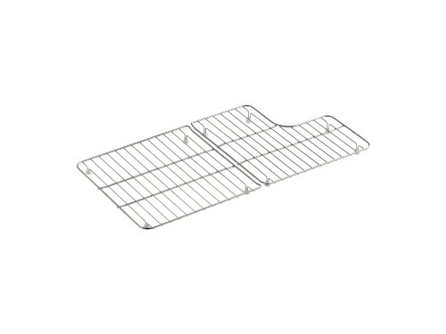(Kohler K-6639-ST Whitehaven Stainless Steel Bottom Basin Racks, Right & Left, Stainless Steel)