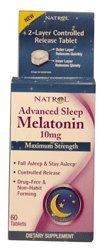 Natrol Mélatonine Sommeil avancée, 10 mg, 60 comprimés