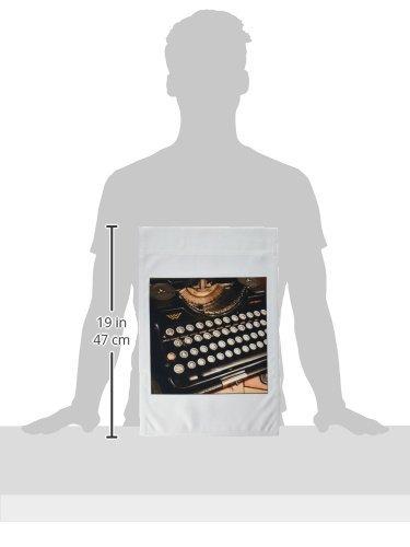 3dRose fl _ 29072 _ 1 Continental máquina de escribir bandera de Jardín, 12 por 18 pulgadas: Amazon.es: Jardín