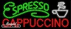 Espresso Cappuccino LED Sign - 27 x 11 x 1 inches - Made in USA -