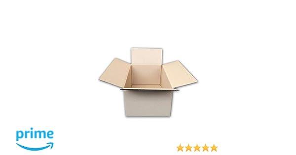 Pack de 20 Cajas de Cartón de Canal Simple y Color Marrón. Tamaño 44,5 x 29,5 x 21 cm. Mudanzas. Fabricadas en España. Normativa AFCO.