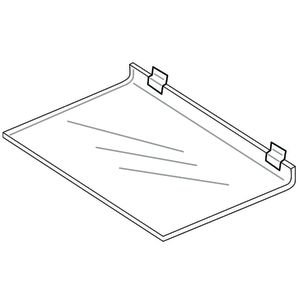Slatwall Display Shelf, Acrylic, 16