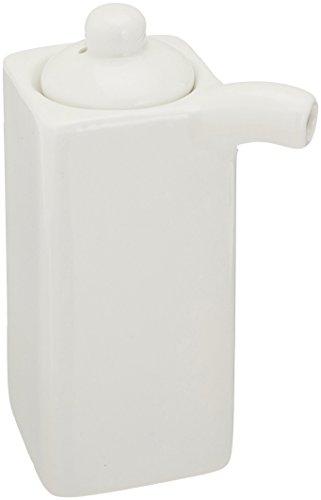 White Porcelain Soy Sauce Dispenser 3.5oz A5381 by - Ounce Porcelain 3.5