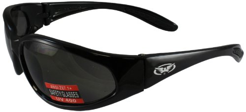 Global Vision Hercules Nylon Sunglasses (Black Frame/Smoke Lens) (HERCSM) ()