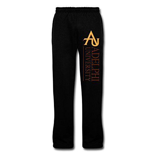 Black Adelphi University1 Men's Sports SWEAT PANTS For Boyfriends Size L (size Small One Yard)