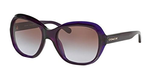 COACH 0HC8197 55mm Purple/Brown Gradient Fashion - Purple Sunglasses Coach