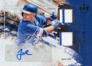 King Autographed Baseball - Jeff McNeil Autographed 2019 Panini Diamond Kings Rookie Jersey Card - Baseball Autographed Game Used Cards