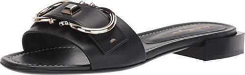 Salvatore Ferragamo Women's Solar Sandal Nero Mezzo Vitell 7 C US ()