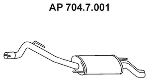 Ebersp/ächer 704.7.001 Endschalld/ämpfer