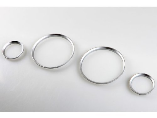 - Cluster Dashboard Dial Gauge Rings CHROME For BMW E30