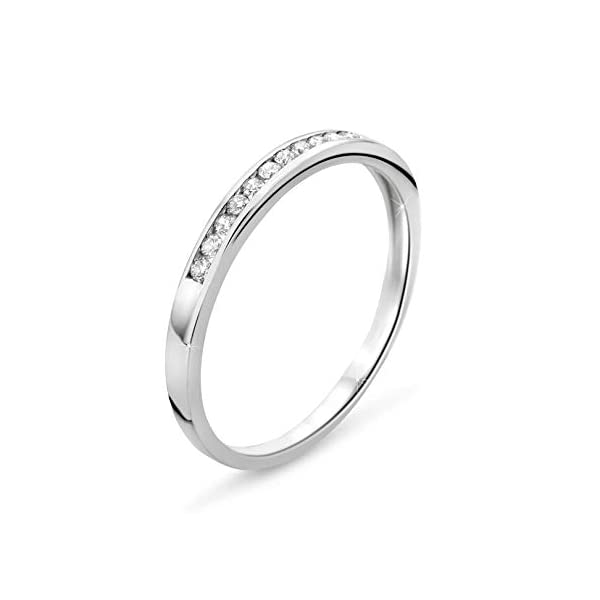 Orovi anillo de mujer compromiso/aniversario 0.10 Quilates diamantes en oro blanco 9 kilates ley 375 Orovi anillo de mujer compromiso/aniversario 0.10 Quilates diamantes en oro blanco 9 kilates ley 375 Orovi anillo de mujer compromiso/aniversario 0.10 Quilates diamantes en oro blanco 9 kilates ley 375
