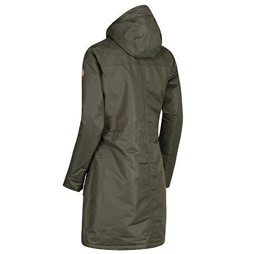 Waterproof Womens Romina Long Regatta Jacket Foncé Kaki Length Breathable ladies F1wp7qv
