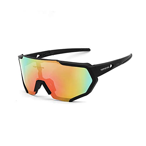Eyewear Sunglasses UV Protection Riding Glasses Eye Gear Protecor for Cycling Bicycle Bike Outdoor Sports #04 Black frame+transparent ()