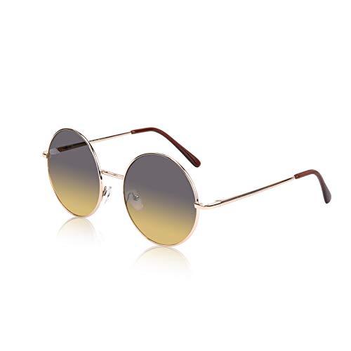 Retro Women Sunglasses Hipster Woodstock Festival Glasses Hot Rounded Brown ()