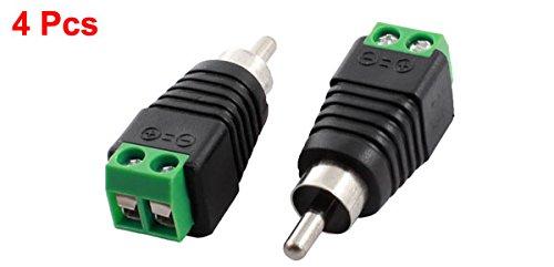 4 Piezas RCA enchufe macho a AV Conector Del Terminal De Tornillo CCTV Balun: Amazon.es: Bricolaje y herramientas