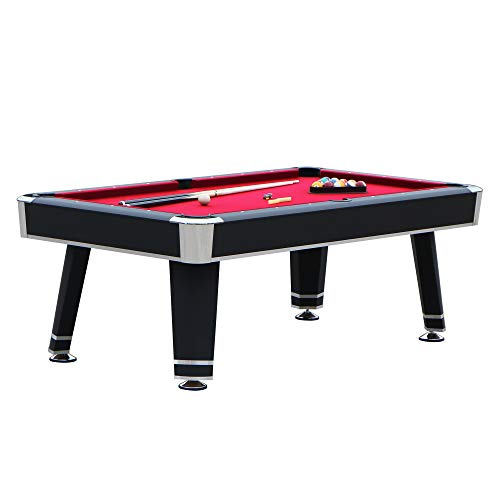 "Hathaway Jupiter 7' Pool Table, 84"" L x 48"" W x 31"" H, Black"