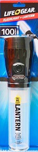 Life Gear LED Flashlight + Lantern, 100 Lumens