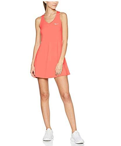 Tennis Dress Nike (Nike Women's Court Racerback Pure Tennis Dress, Lava Glow/White, Medium)