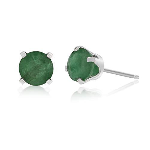 .96 CT Round 5MM Green Emerald 14K