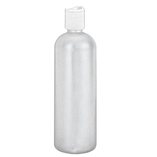 MoYo Natural Labs 16 oz Travel Containers, Empty Shampoo Bottles with Disc Cap, BPA Free HDPE Plastic Squeezable Toiletry/Cosmetics Bottles (1 pack, Translucent White)