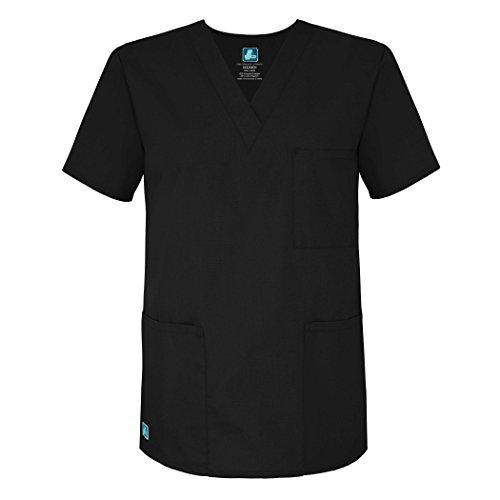 Uniformi Nero Unisex Parte black Mediche Ospedale Camice Da Adar Superiore Infermiera Lavoro vdRqgvwZ