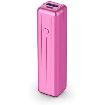 Zendure A1 Mini 3350mAh Portable Charger, Lipstick-Sized Compact External Battery Power Bank for iPhone, iPad, Samsung Cellphone, Tablets and More(Magenta)