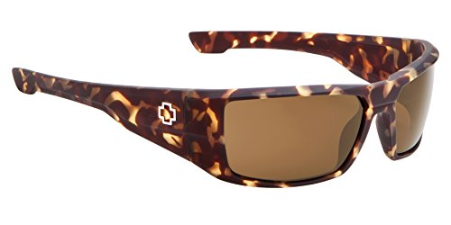 Spy Optic Dirk Wrap Sunglasses, Matte Camo Tort/Happy Bronze, 58 - Sunglasses Snow Camo