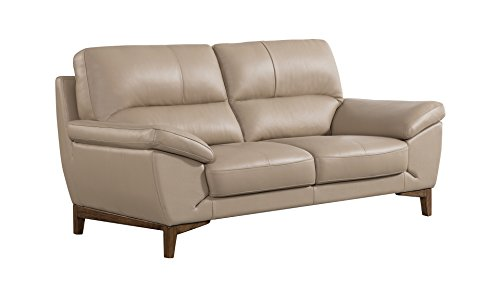 American Eagle Furniture EK080-TAN-LS Ashford Collection Leather Upholstered Loveseat, Tan