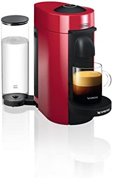 Nespresso ENV150R VertuoPlus Coffee and Espresso Machine by De Longhi, Red