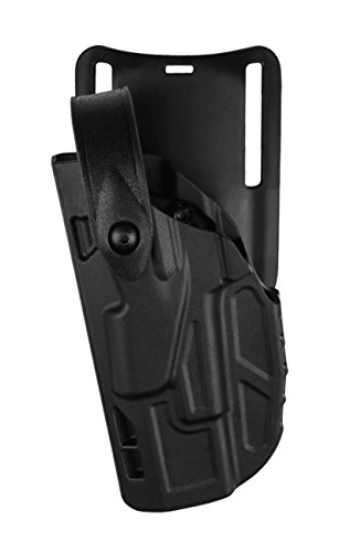 Safariland 7285 7Ts SLS Low-Ride Level-2 Duty Glock 19 23 Holster, Plain Black, Right