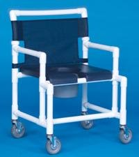 IPU SCC750 MS N Shower Chair Commode with Deluxe Soft Seat