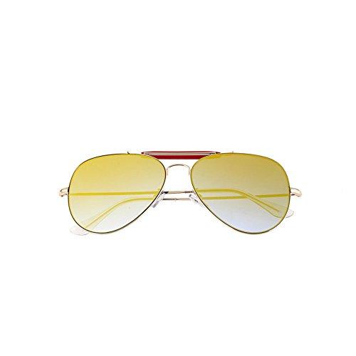 Gafas Orange Flat Color Amarillo Mirror Retro Sol Driving Hipster Sol Reflective Gafas Gafas de Frog de Sunglasses Mirror de Sol Colorful anHnzEUx