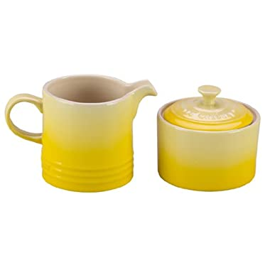 Le Creuset Stoneware Cream and Sugar Set, Soleil