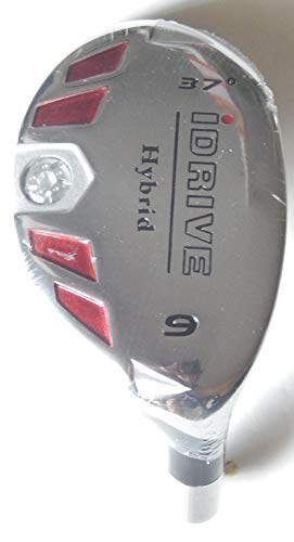 Hybrid 9 Iron - New Integra I-Drive Hybrid Golf Club #9-37° Right-Handed With Graphite Shaft, U Pick Flex (Graphite, Senior)