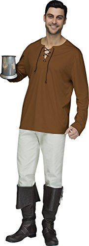 Fun World Mens Brown Peasant Shirt Adult Size,
