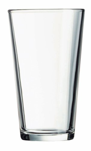 Luminarc Pub Beer Glass, 16-Ounce, Set of