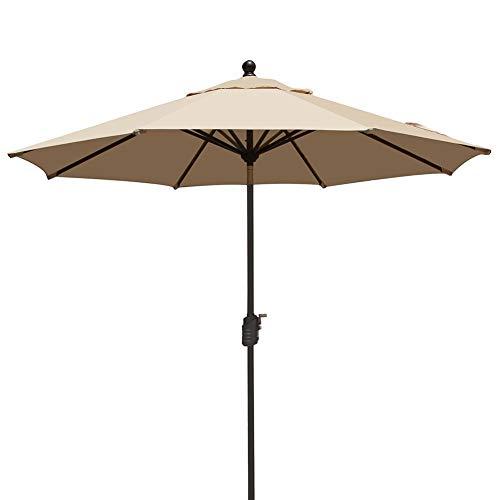 EliteShade Sunbrella 9Ft Market Umbrella Patio Outdoor Table Umbrella with Ventilation,Bonus Weatherproof Cover (9' Diameter Market Umbrella)