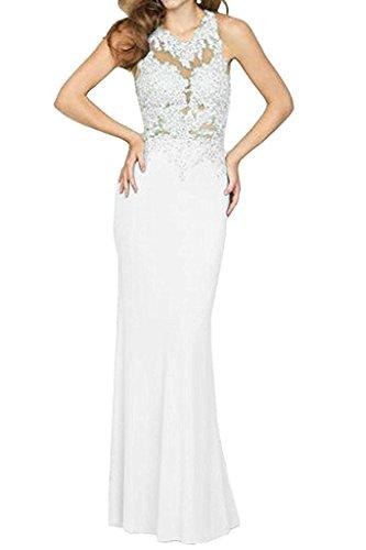 Abendkleider Braut La mit Marie Ballkleider Weiß Damen Meerjungfrau Kleider Jugendweihe Langes Spitze n4UqXHS5U