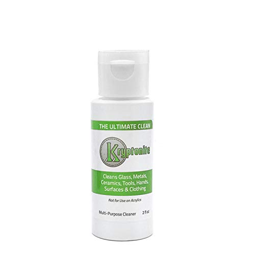KLEAR KINE Kryptonite Glass Cleaner | Clay Based Formula | 420 & 710 Formulated | Glass Pipe | (120ml)
