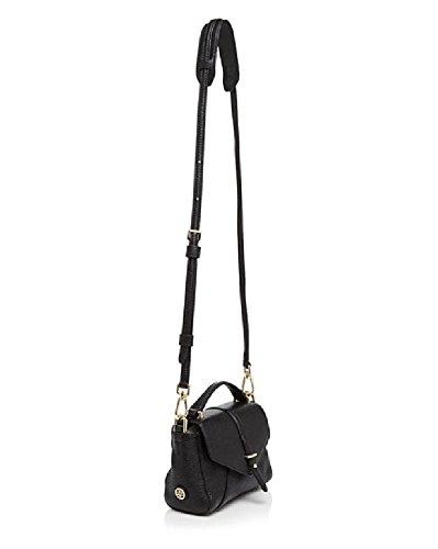 Tory Burch 797 Tiny Satchel Black Leather Handbag Bag New